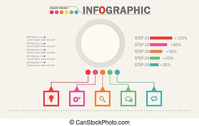 infographic, concept, illustration., zakelijk, vector, template.