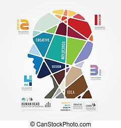 infographic, concept, kleur, illustratie, vector, mal, spandoek