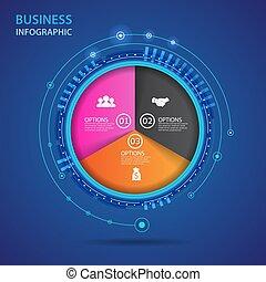 infographic, concept., vecteur, technologie, business