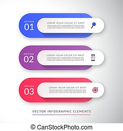 Infographic concept with 3 options.