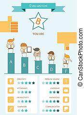 infographic, concetto, valutazione, affari