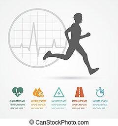 infographic, condicão física