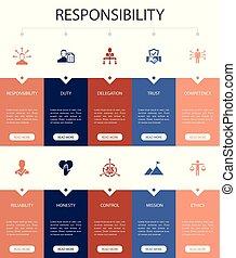 infographic, confiança, honestidade, fiabilidade, 10, design...