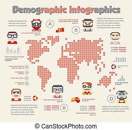 infographic, démographique, gens