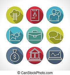 infographic, développement, concept, ressource, professionnels, carrière, compagnie, icônes, moderne, collection, vecteur, progress., humain, logo, ensemble, gestion, ligne, organisation
