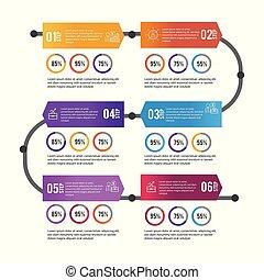 infographic data information with lorem ipsum vector...