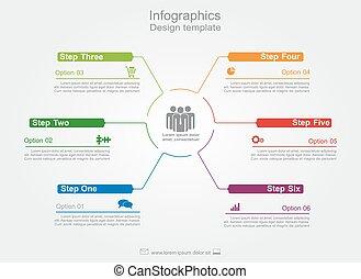 infographic, desenho, template., vetorial, illustration.