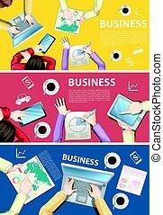 infographic, design, arbeitende , geschäftsmenschen