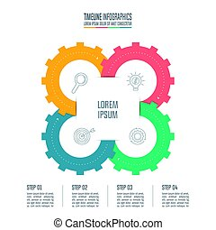 infographic design business concept with 4 options. -...