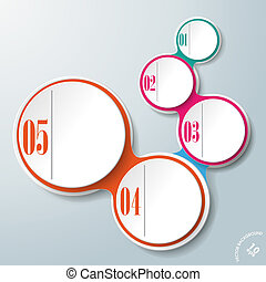 Infographic Design Colored Chains 5 Options PiAd