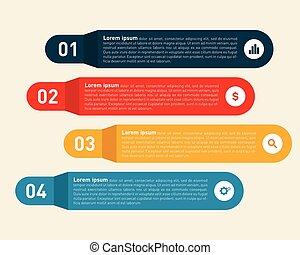 Infographic design element modern information template vector illustration