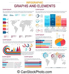 Infographic design elements with graph and chart -...