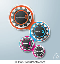 Infographic Design Gears 4 Options - Infographic design...