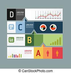infographic, design, modern, schablone