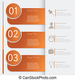 Infographic. Design number banners template graphic or...