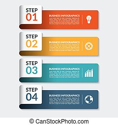 Infographic design number banners template. Can be used for...