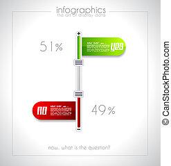 Infographic design - original paper tag