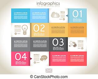Infographic design - original paper tags