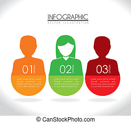 Infographic design over white background, vector illustration