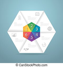 Infographic design template and marketing icons, Business concept with 6 options