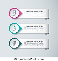 Infographic design template. Vector concept for business infographics with 3 steps, options, parts. Can be used for graph, diagram, chart, web design