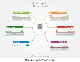 Infographic design template. Vector illustration. -...
