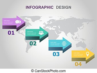 Infographic design template with arrows