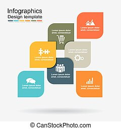 Infographic design template with elements. Vector illustration.
