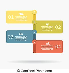 Infographic design template with elements and icons. Vector.