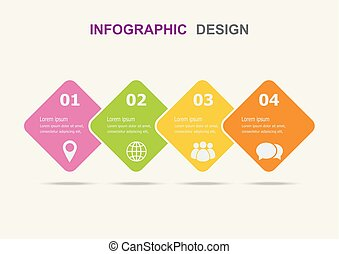 Infographic design template with four steps