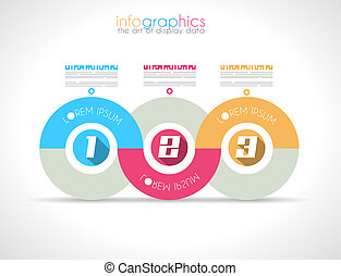 Infographic Design Template with modern flat style. Ideal to...