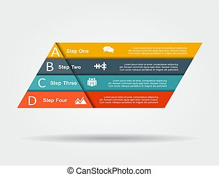 Infographic design template with place for data. Vector illustration.