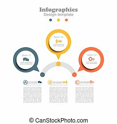 Infographic design template with place for your data....