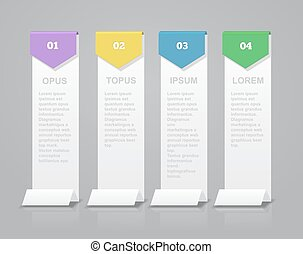 Infographic design vector and marketing icons Abstract elements of graph, diagram with 4 steps,