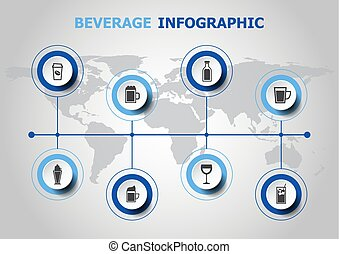 Infographic design with beverage icons