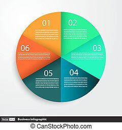 Infographic design with circles for business