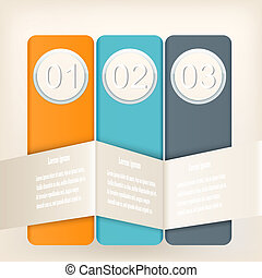 Infographic design with elements of different colors. Vector ill