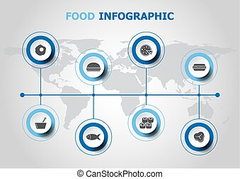 Infographic design with food icons