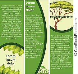 Infographic design with green tree