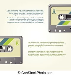 Infographic design with old school cassettes