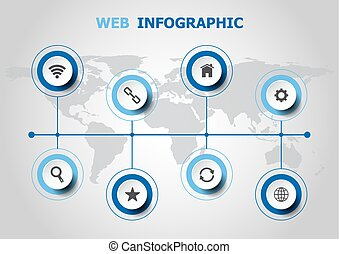 Infographic design with web icons