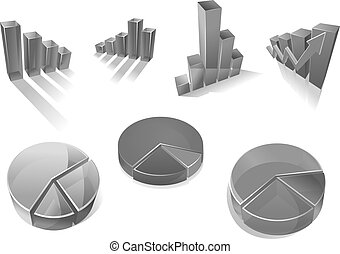 Infographic diagram charts vector element icons