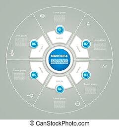 infographic., diagram, concept, processes., zakelijk, cyclic...