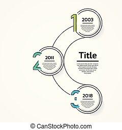 infographic, diagram, procesy, pojęcie, handlowy, strony, opcje, wykres, chart., 3, wektor, kroki, szablon, prezentacja, albo