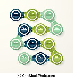 infographic, diagram, procesy, pojęcie, handlowy, strony, opcje, wykres, chart., wektor, kroki, szablon, 12, prezentacja, albo