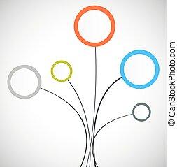 infographic, diseñe elementos, para, su, empresa / negocio