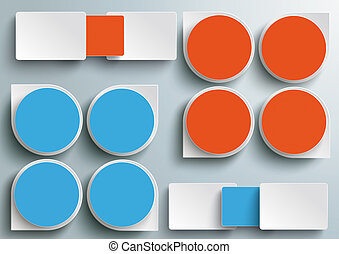 Infographic Drops Batched Rectangels Blue Orange PiAd
