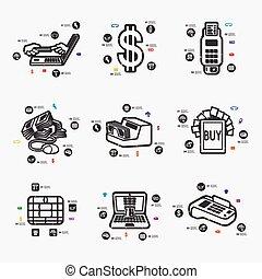 infographic, e- peníze