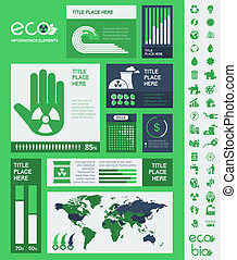 infographic, ecologie, template.
