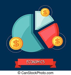 Infographic economic and finance concept flat illustration